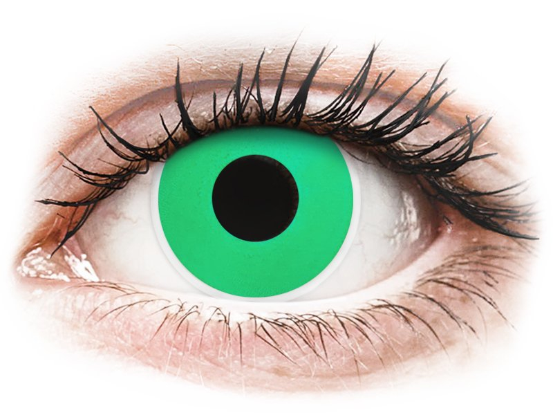 ColourVUE Crazy Lens - Emerald (Green) - brez dioptrije (2 leči)