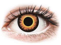 ColourVUE Crazy Lens - Orange Werewolf - brez dioptrije (2 leči)