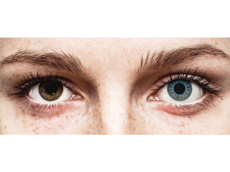 ColourVUE Crazy Lens - Solar Blue - brez dioptrije (2 leči)