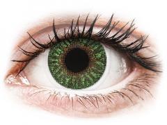 TopVue Color - Green - z dioptrijo (2 leči)