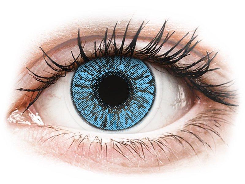 FreshLook Colors Sapphire Blue - z dioptrijo (2 leči)